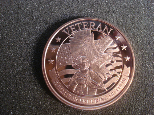 Veteran Copper Round 1 oz .999 Fine