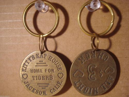 Kitty's Kat House Brothel Token Key Chain