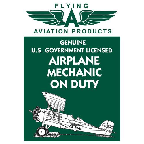 Airplane Mechanic on Duty Tin Sign