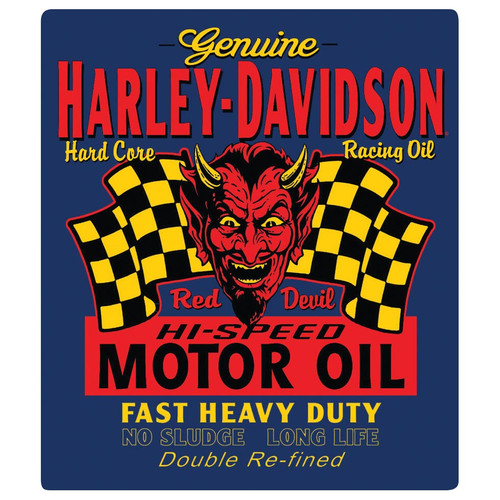 H-D® Red Hot Embossed Tin Sign