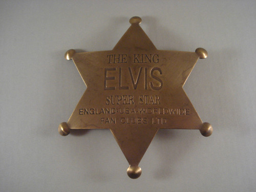 Elvis The King Super Star Fan Club Western Badge