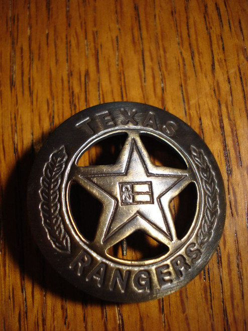 Texas Ranger Solid Brass Western Badge #132