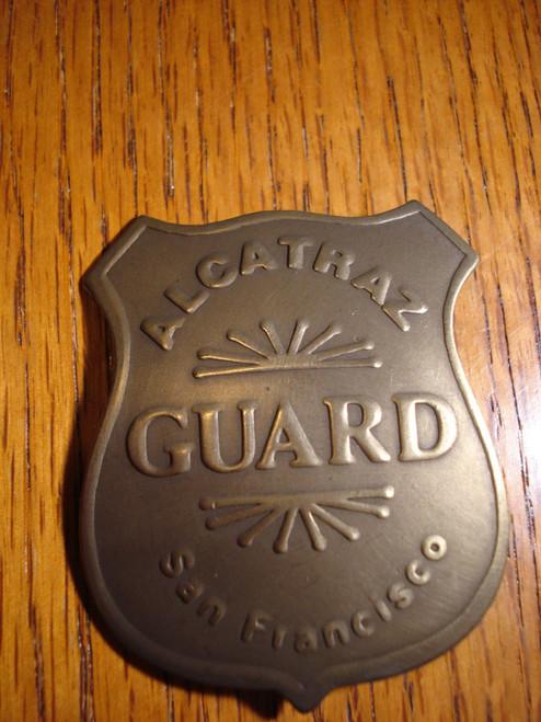 Alcatraz Guard San Francisco Solid Brass Western Badge