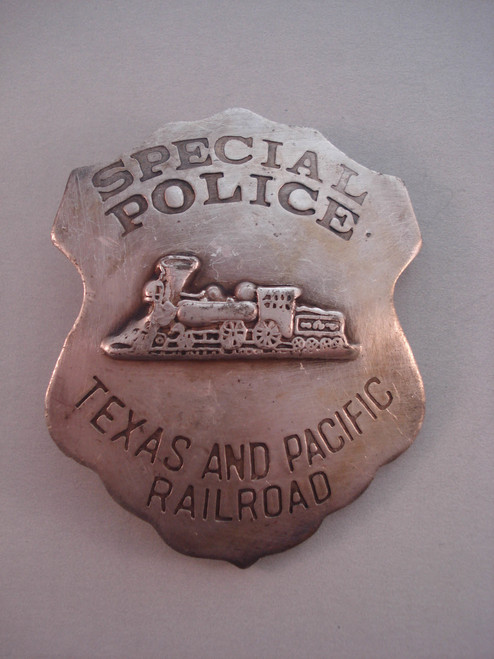 Special Police Texas and Pacific Railroad Western Badge