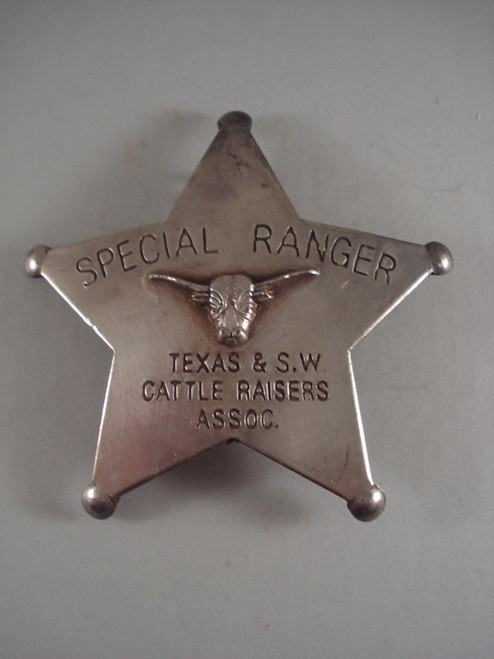 Special Ranger Texas & S.W. Cattle Raisers Assoc. Western Badge