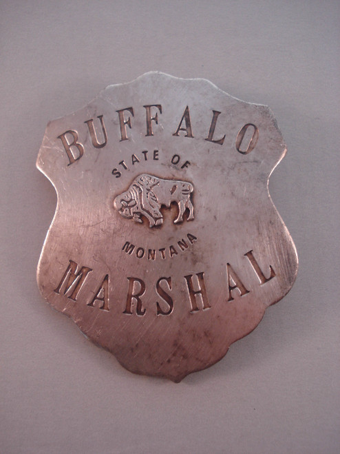 Buffalo Marshal State of Montana Western Badge
