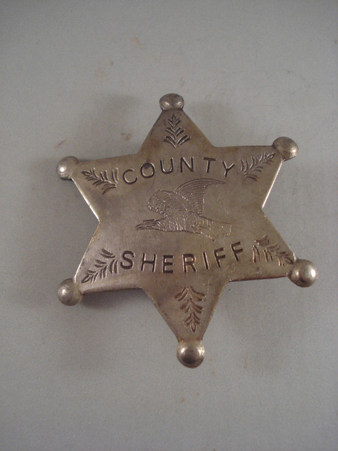County Sheriff Western Badge