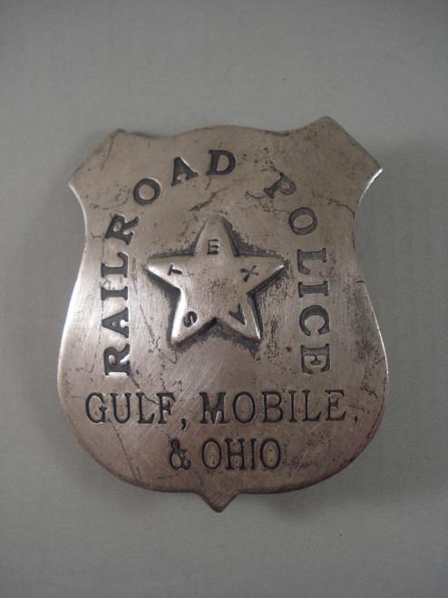 Railroad Police Gulf, Mobile, & Ohio Western Badge