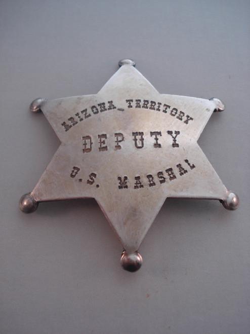 Arizona Territory Deputy U.S. Marshal Western Badge