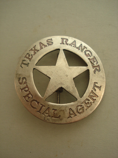 Texas Ranger Special Agent Western Badge