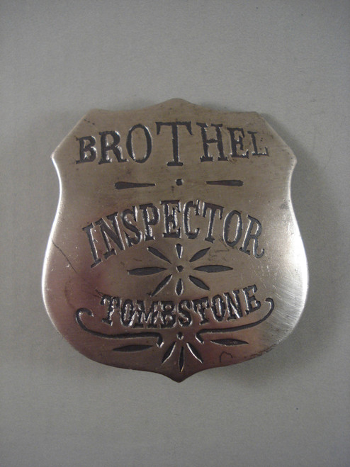 Brothel Inspector Tombstone Western Badge