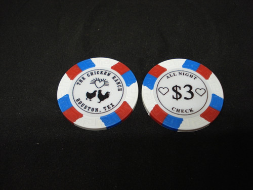 The Chicken Ranch Houston Texas Brothel Collectors Poker Chip Cathouse Whore House