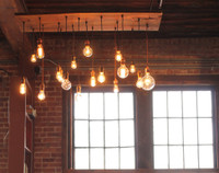 18 Light Pendant Chandelier - Reclaimed Wood