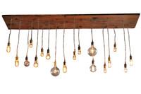 Reclaimed Wood 18 Pendant Rustic Chandelier