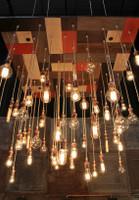 Modern Mosaic Style Edison Bulb Chandelier