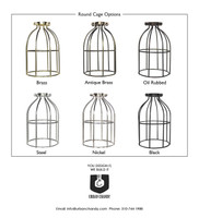 Round Cage Pendant Options