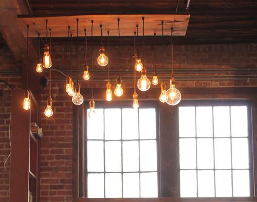 18 Light Pendant Chandelier - Reclaimed Wood