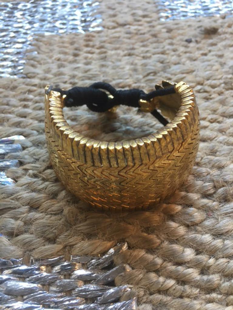 Bazuband Cuff - Black and Gold