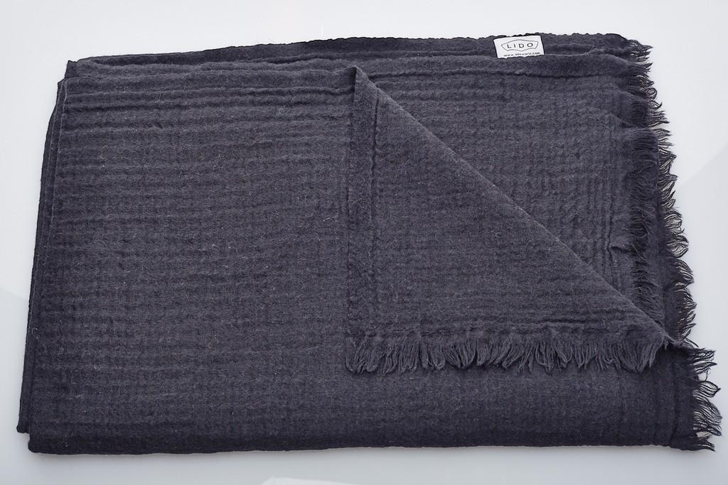 Soft Wool Blanket - Black