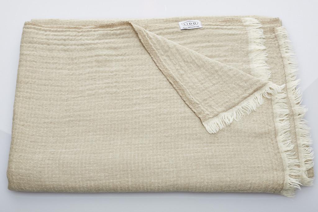 Soft Wool Blanket - Natural