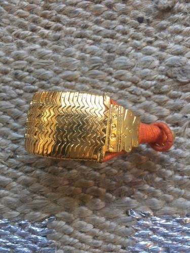 Bazuband Cuff - Gold and Orange