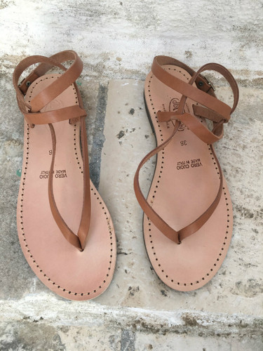 Thong Ankle Strap Sandal
