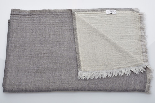 Soft Wool Blanket - Grey