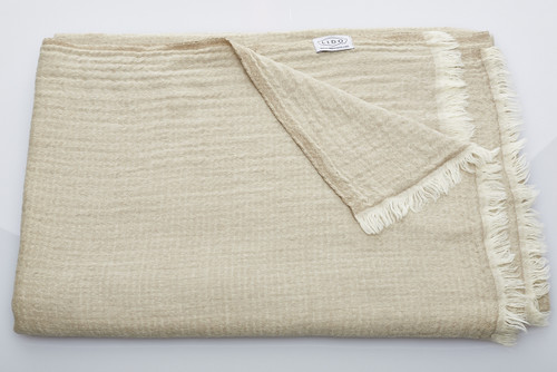 Soft Wool Blanket - Natural