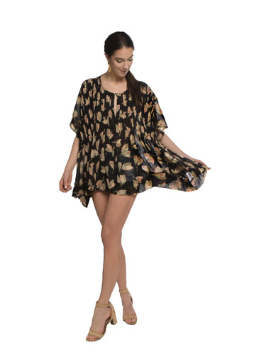 Pleated Top - Flowers