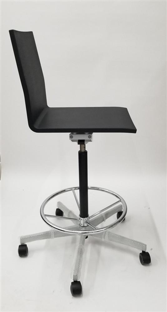 Vitra Studio Maarten Van Severen .04 Studio Drafting Stool Chair in Black