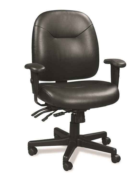 Eurotech 4x4 LE Task Chair in Black Leather