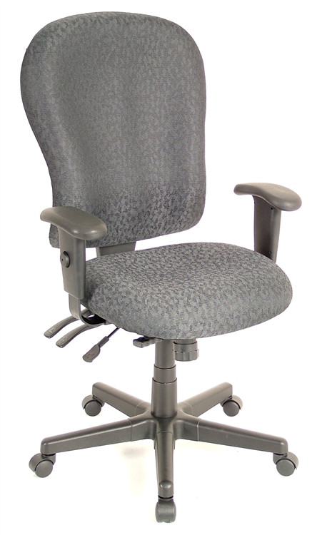 Eurotech 4x4 XL High Back Desk Chair in Charcoal
