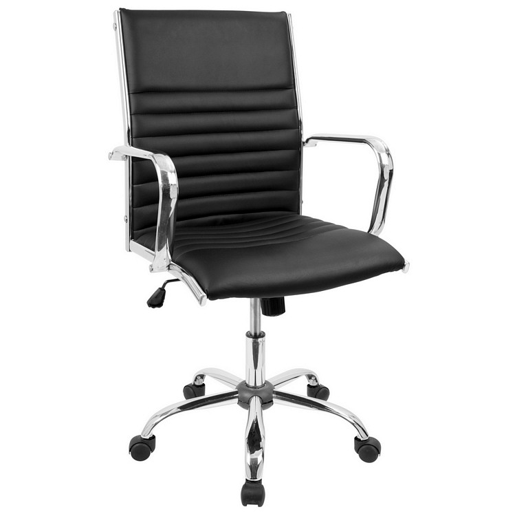Lumisource Master Height Adjustable Office Chair with Swivel in Black