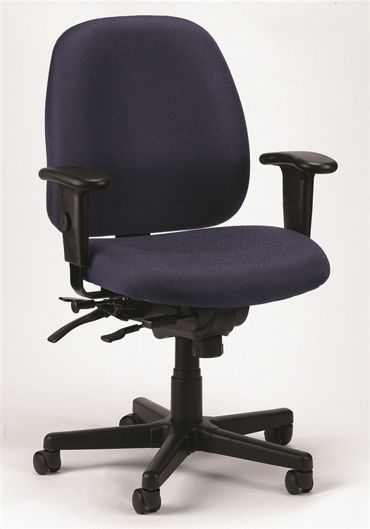 Eurotech 4x4 SL Task Chair with Seat Slider in Navy