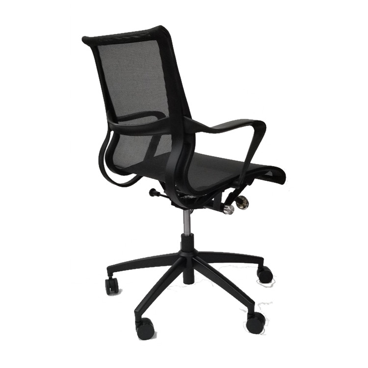 Flash Furniture Conference Setu Style Mid Back Task Chair in Black
