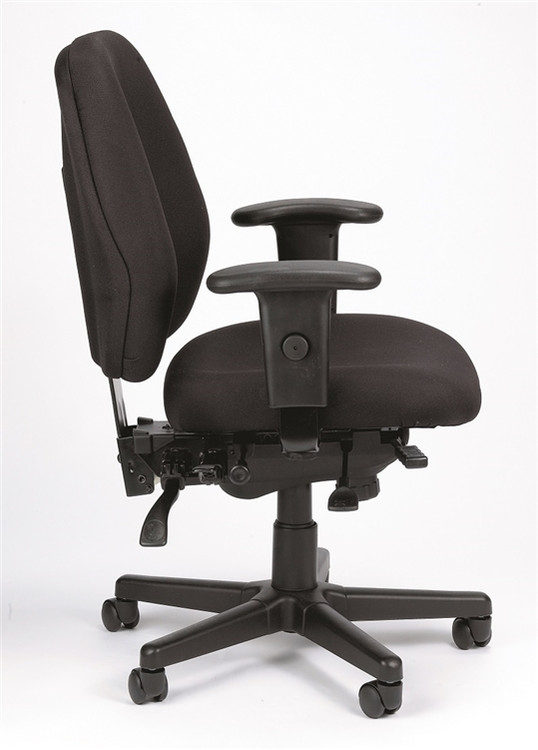 Eurotech 4x4 SL Task Chair with Seat Slider in Charcoal