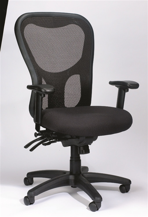 Eurotech Apollo High Back Multi Function with Seat Glider in Black