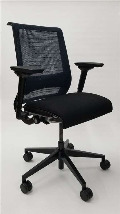 Steelcase Think Chair Mesh Back Fully Adjustable Model Navy Back
