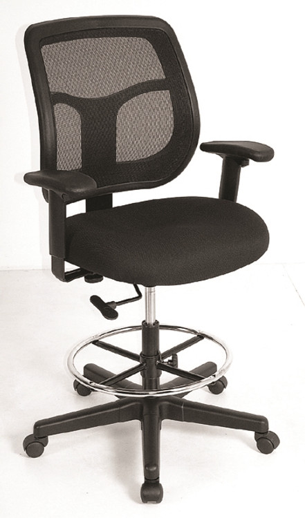 Eurotech Apollo Drafting Chair in Black