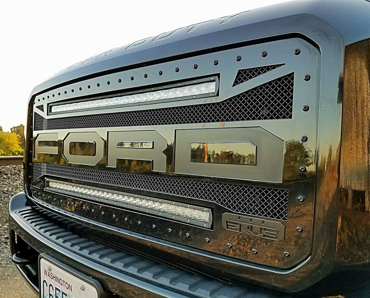 2011 2016 ford f250f350 raptor style with 2 single row 30 led 2011 2016 ford f250f350 raptor style with 2 single row 30 led aloadofball Image collections