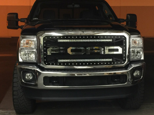 2011 2016 ford f250f350 raptor style with 2 single row 30 led 2011 2016 ford f250f350 raptor style with 2 single row 30 led aloadofball Choice Image