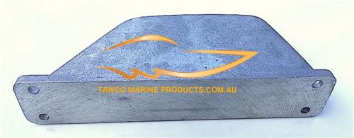 R001-A Curved Fin by Tawco Marine Alum 4 Hole