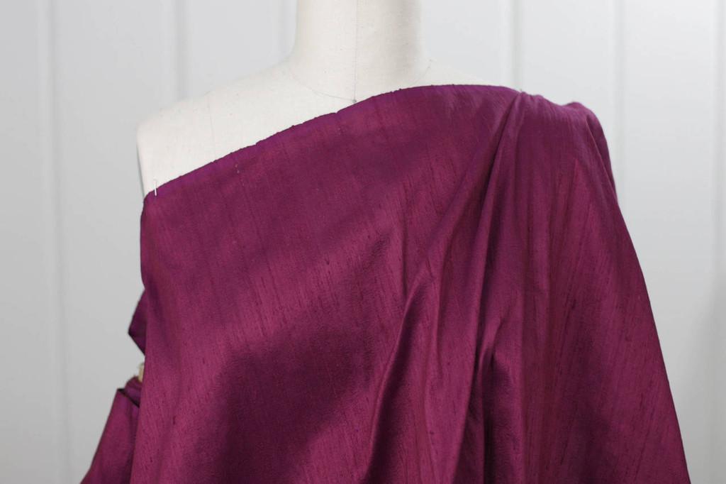 Sangria Silk Dupioni