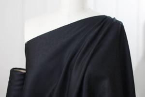 Black Floral Damask Cotton Shirting