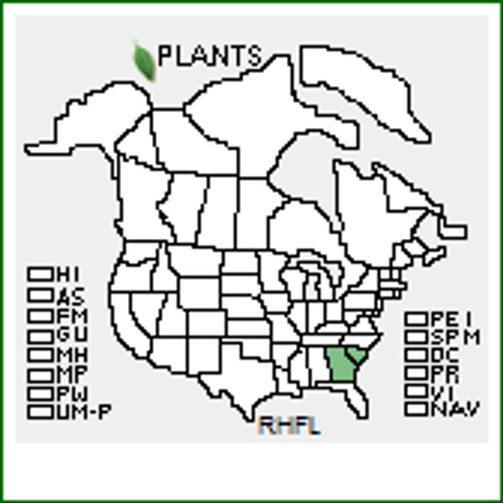 R. flammeum native range map