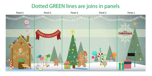 Christmas gingerbread photo booth skins for Oval Photo Booth