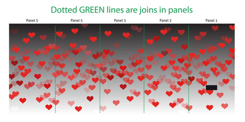 Red hearts photo booth skins for Oval Photo Booth