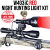 WICKED LIGHTS W403IC RED NIGHT HUNTING LIGHT KIT FOR COYOTE, HOG, FOX, PREDATOR, VARMINTS