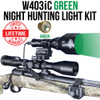 WICKED LIGHTS W403IC GREEN NIGHT HUNTING LIGHT KIT FOR HOGS, COYOTE, FOX, PREDATORS AND VARMINTS