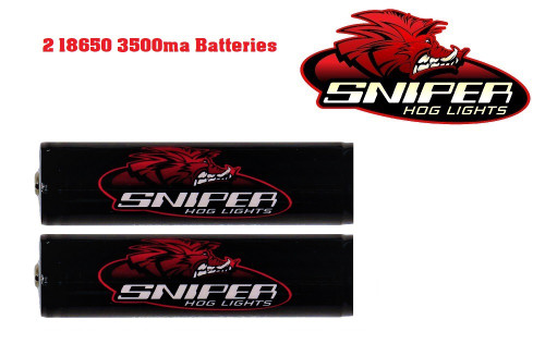 Sniper Hog: 2 18650 3500ma batteries